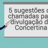 5 sugestões de chamadas para divulgação da Concertina