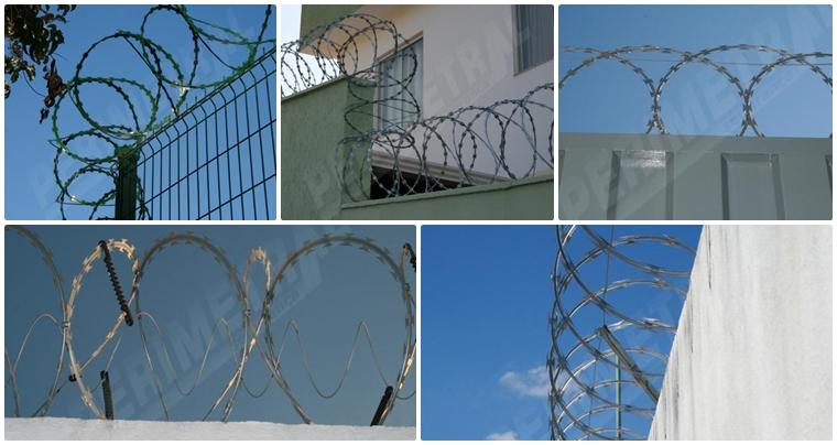 Cercas de proteção para muros