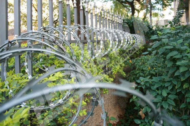 Como a entrada da sua casa ficaria com a cerca Concertina?