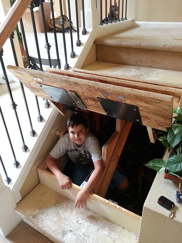 gavetas na escada